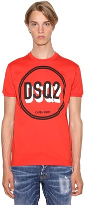 DSQUARED2 PRINTED VERY VERY DAN FIT COTTON T-SHIRT