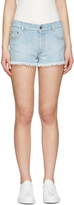 Stella McCartney Blue Star Denim Shorts