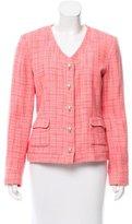 Karl Lagerfeld Button-Up Tweed Jacket
