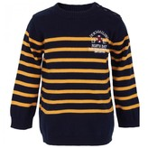 Ikks Blue and Yellow Stripe Sweater