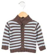 Petit Bateau Boys' Striped Mock Neck Sweater