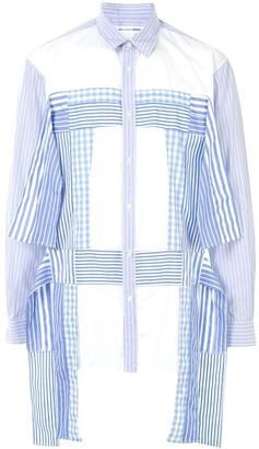 Comme des Garçons Shirt Long-Sleeve Patchwork Shirt