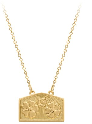 A World Entire Hope & Beauty - Blossom Wish Necklace In 18ct Yellow Gold