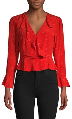 ASTR the Label Floral Dot-Print Top