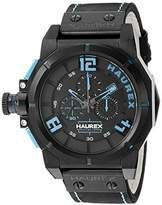 Haurex Italy Men's 6N510UBB Space Chrono Analog Display Quartz Black Watch