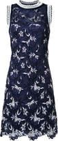 Ermanno Scervino floral lace rib trim dress