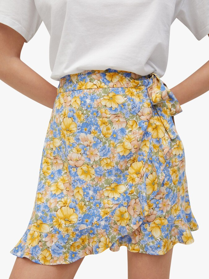 Thumbnail for your product : MANGO Floral Wrap Mini Skirt