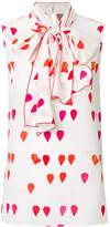 Alexander McQueen heart sleeveless blouse