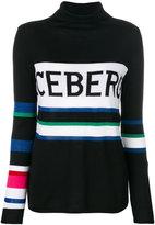 Iceberg colour-block logo patch sweater