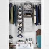Pottery Barn Teen Extra Wide Closet Storage Set Hanging Closet Organizer, Solid Gray