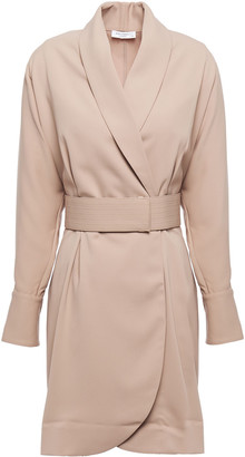Equipment Corben Belted Stretch-crepe Mini Wrap Dress