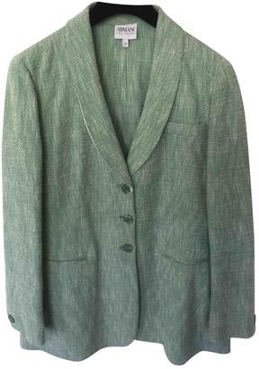 Armani Collezioni Green Cotton Jacket for Women