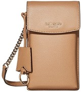 Kate Spade Sylvia North South Flap Crossbody (Light Fawn) Computer Bags