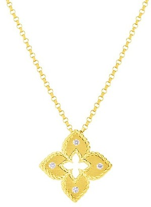 Roberto Coin Petite Venetian Extra-Small 18K Yellow Gold & Diamond Pendant Necklace