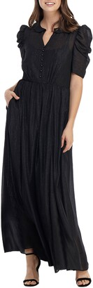 Gal Meets Glam Jolene Shimmer Chiffon Maxi Dress