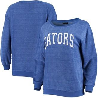 Women's Royal Florida Gators It's a Date Oversized Pullover Sweatshirt