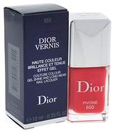 Christian Dior Vernis Gel Shine and Long Wear Nail Lacquer, No. 650 Pivoine, 0.33 Ounce