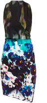 Nicole Miller Stefanie Misty Flowers Printed Silk Dress