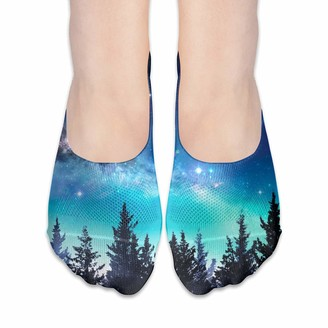 Cool Show Socks For Women Milky Way Moon In Night Forest Low Cut Sock Liners Invisible Socks