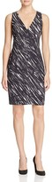 Milly Brushstroke Print Sheath Dress
