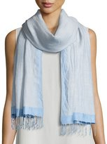 Eileen Fisher Hand-Loomed Wool/Silk Pathways Scarf, Morning Glory