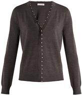 Altuzarra Agnella faux-pearl embellished wool cardigan