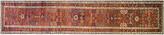"""One Kings Lane Vintage Antique Persian Heriz Runner - 3'2"""" x 18' - Eli Peer Oriental Rugs - rust/multi"""