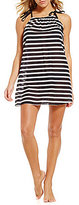 Kate Spade A-Line Striped Dress Cover-Up