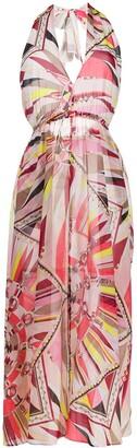 Emilio Pucci Geometric Print Halter Dress