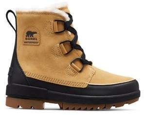 Sorel Tivoli IV Faux Fur-Lined Suede & Leather Winter Boots