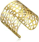 a.v. max Gold-Plated Abstract Cuff Bracelet