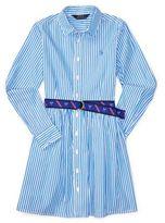Ralph Lauren Girls Striped Shirtdress