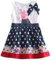 LEMONBABY Peppa Pig cartoon baby girls skirt cotton birthday dress (2Y, )