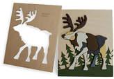 One Kings Lane Feller Reindeer Puzzle - Brown