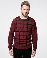 Le Château Check Print Yarn Crew Neck Sweater