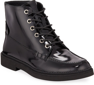 Tod's Combat Lace-Up Leather Ankle Boots