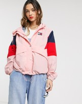 Tommy Jeans contrast colour block windbreaker