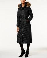 MICHAEL Michael Kors Faux-Fur-Trim Down Maxi Puffer Coat