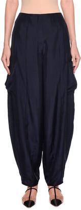 Emporio Armani Silk Habutai Harem Pants with Cargo Pockets