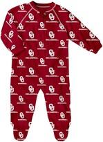 Outerstuff Infant Crimson Oklahoma Sooners Allover Print Raglan Full-Zip Sleeper