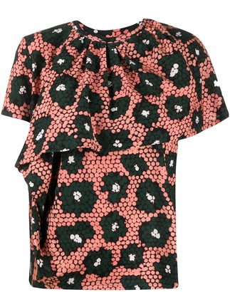 Christian Wijnants Floral Ruffle Blouse