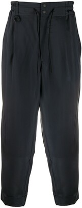 Y-3 Pleat-Front Cropped Trousers