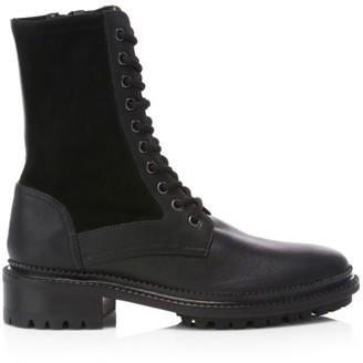 Aquatalia Orianna Leather & Suede Combat Boots