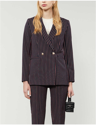 Maje Velda double-breasted woven blazer