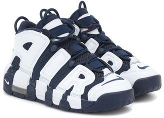 Nike Kids Air More Uptempo leather sneakers