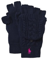 Ralph Lauren Navy Cable Knit Gloves