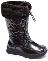 Tundra Black Sparkles Drawstring Boot