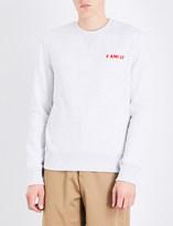Ami Alexandre Mattiussi Family-embroidered cotton sweatshirt