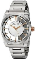 Kenneth Cole New York Women's 'Transparency' Quartz Stainless Steel and Leather Dress Watch, Color:Silver-Toned (Model: 10027852)
