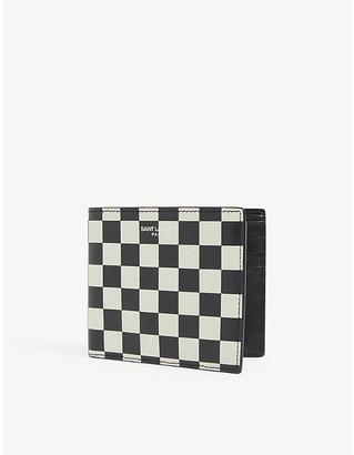 Saint Laurent Check billfold leather wallet
